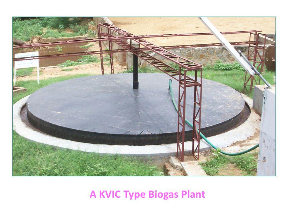 A KVIC Type Biogas Plant