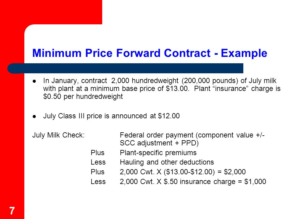 8 Minimum Price Forward Contract – What Does Plant Do.