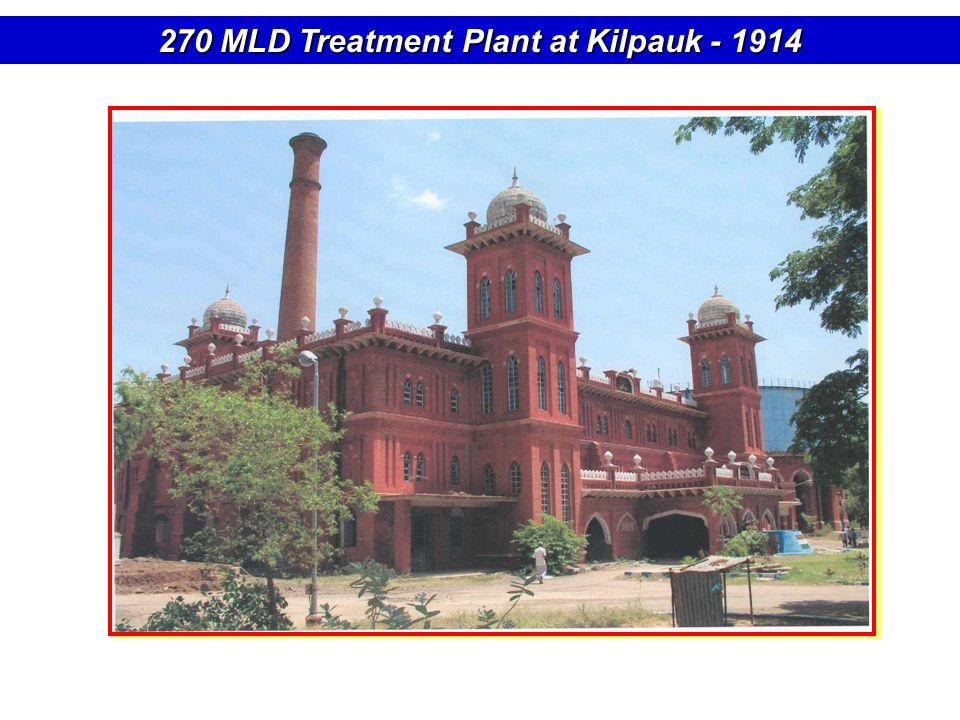 270 MLD Treatment Plant at Kilpauk - 1914