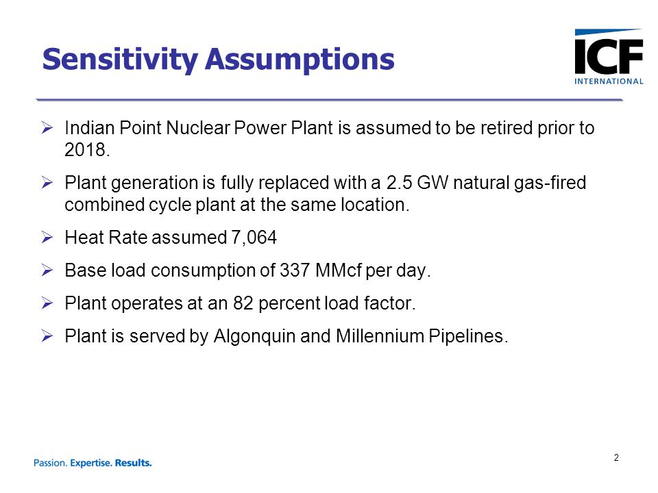 2 Sensitivity Assumptions  Indian Point Nuclear Power Plant is assumed to be retired prior to 2018.  Plant generation is fully replaced with a 2.5 G