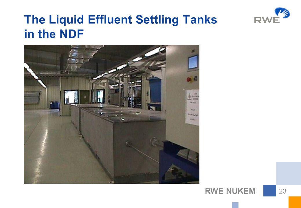RWE NUKEM 23 The Liquid Effluent Settling Tanks in the NDF
