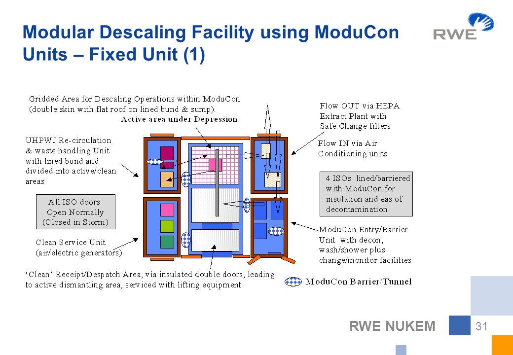 RWE NUKEM 31 Modular Descaling Facility using ModuCon Units – Fixed Unit (1)