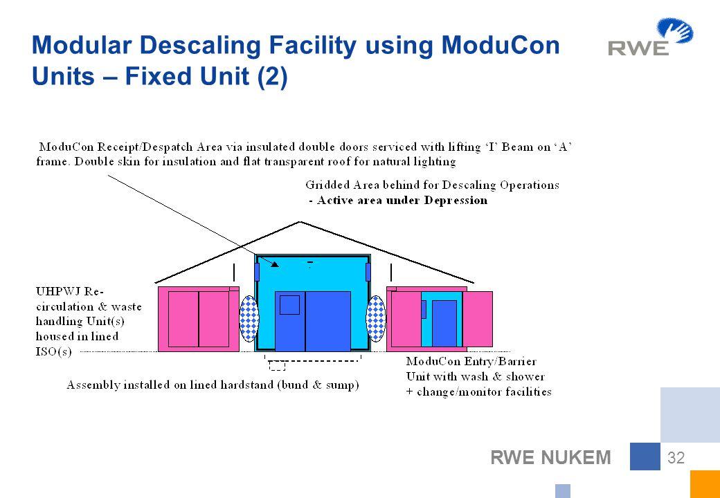 RWE NUKEM 32 Modular Descaling Facility using ModuCon Units – Fixed Unit (2)