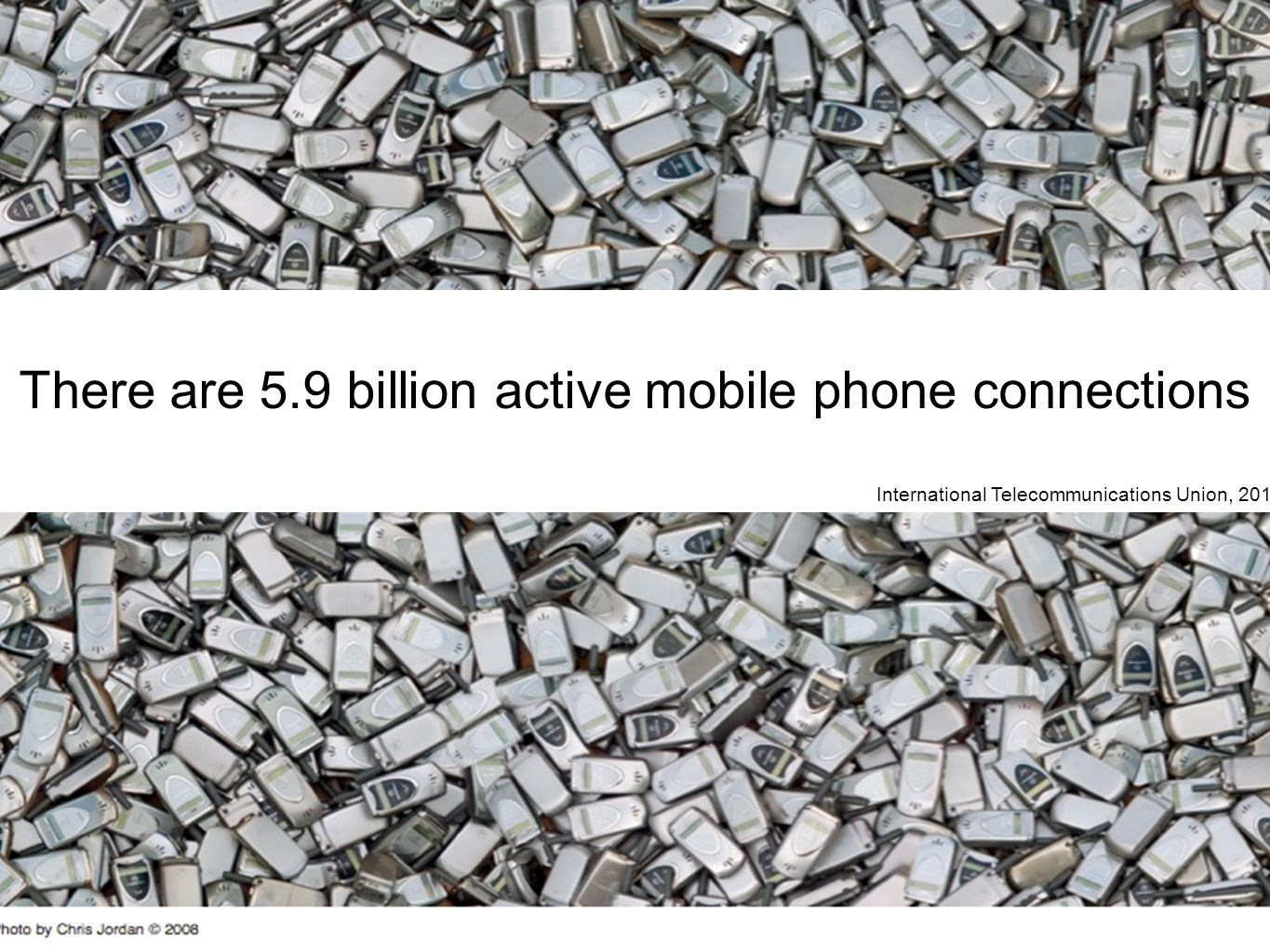 There are 5.9 billion active mobile phone connections International Telecommunications Union, 2011