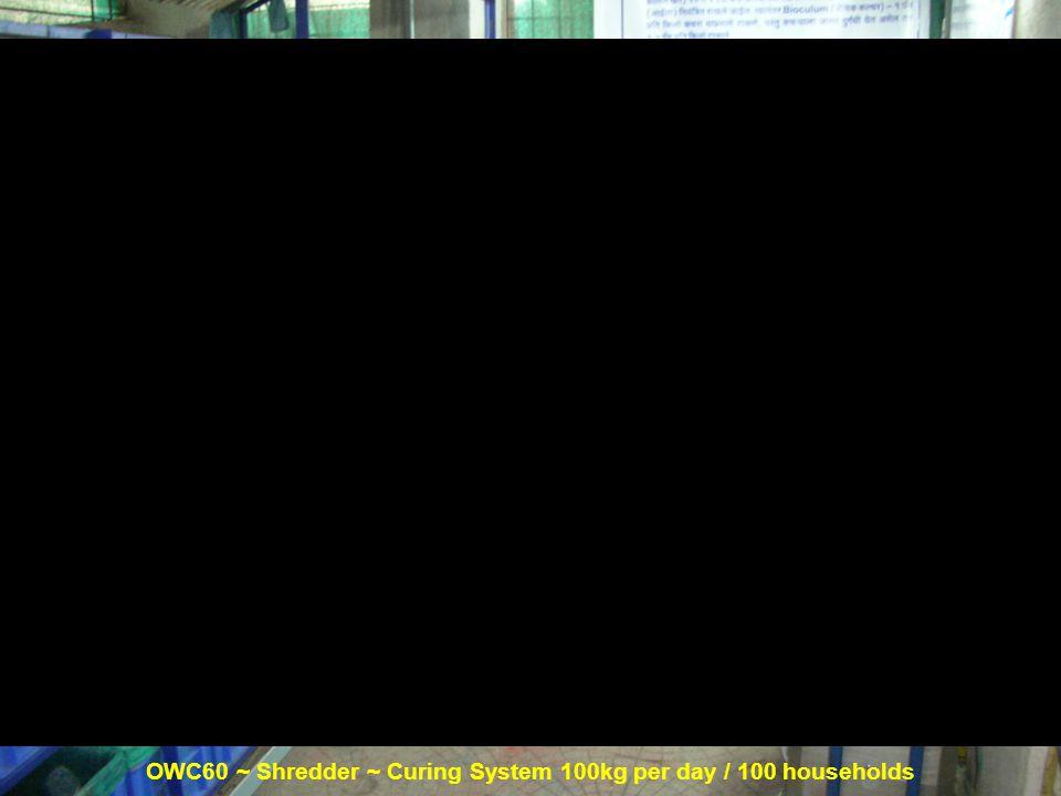 OWC60 ~ Shredder ~ Curing System 100kg per day / 100 households Shredder Curing System OWC