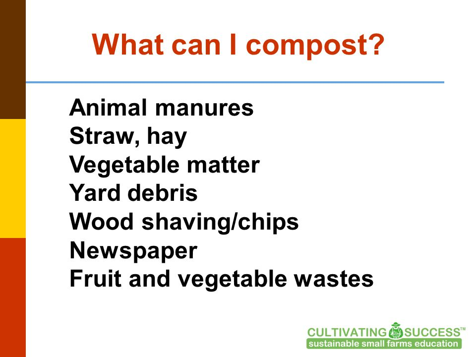 What can I compost.