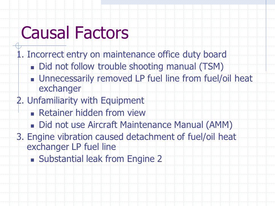 Causal Factors 1.