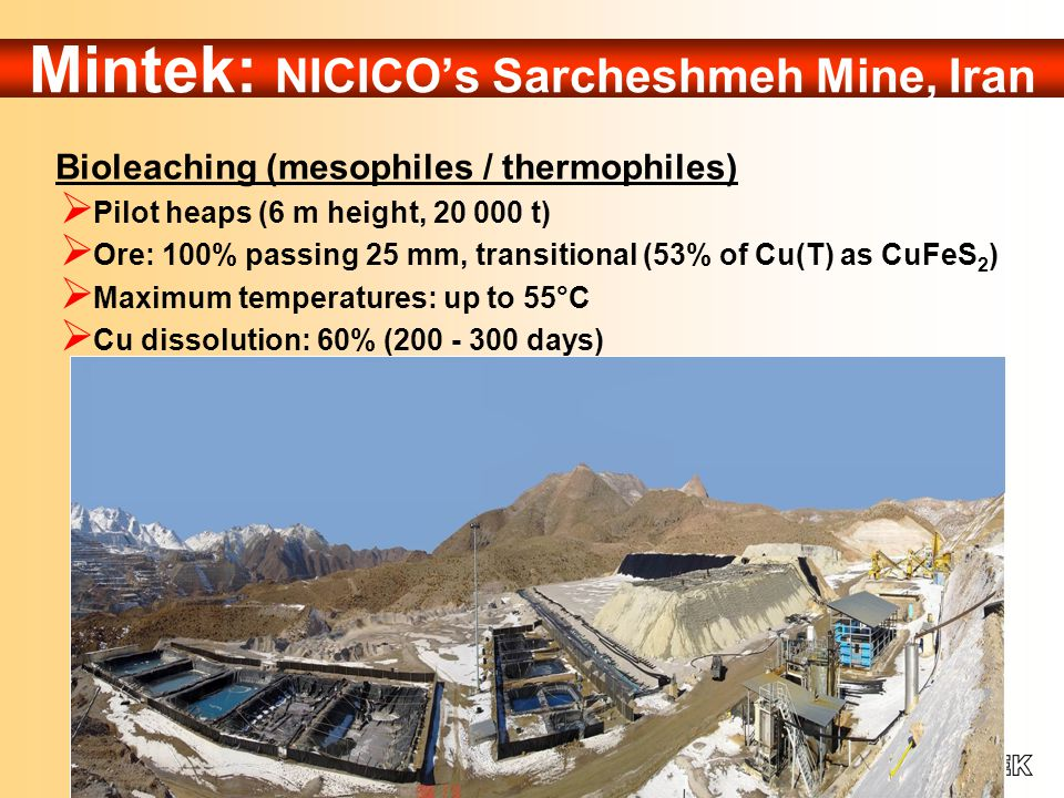 Teck Cominco's CESL Process Pressure Leaching  Can treat nearly all copper concentrates (incl.