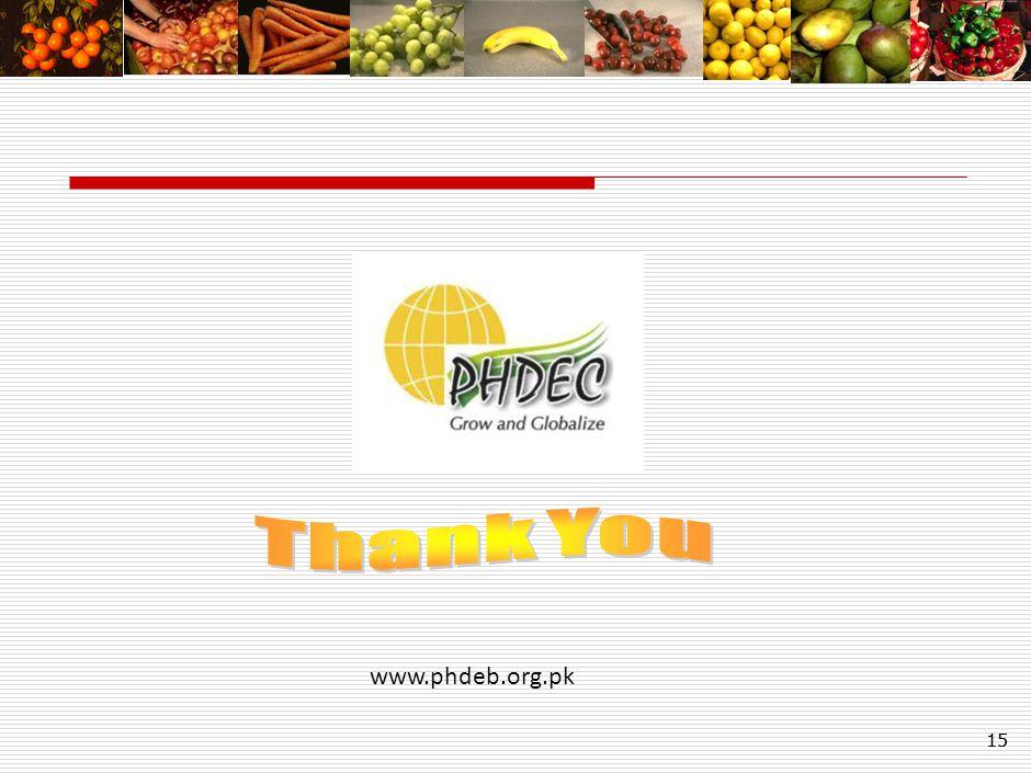 15 www.phdeb.org.pk