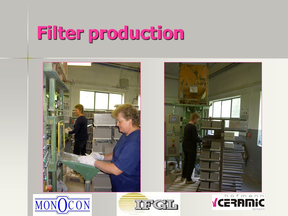 Filter production