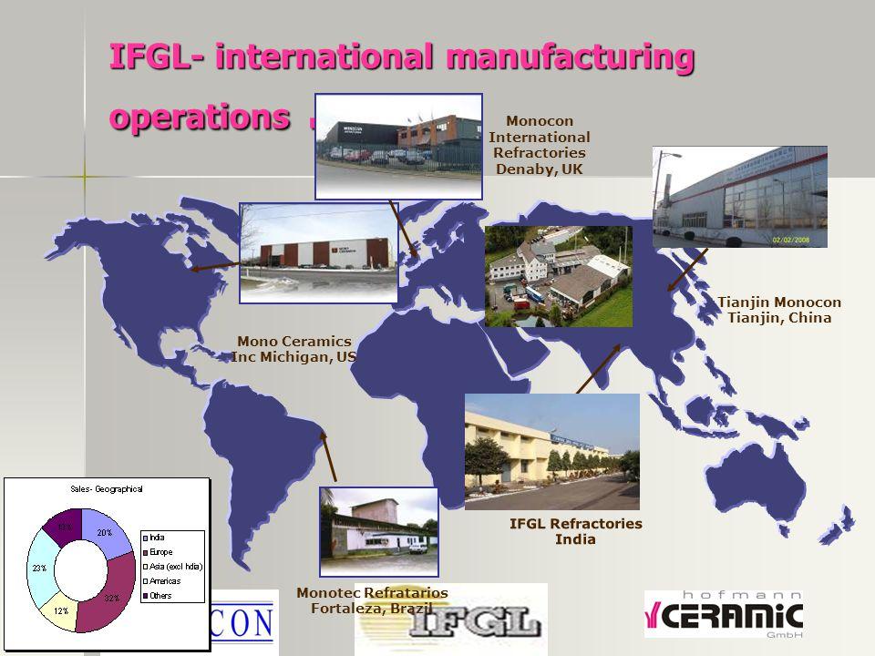 IFGL- international manufacturing operations...