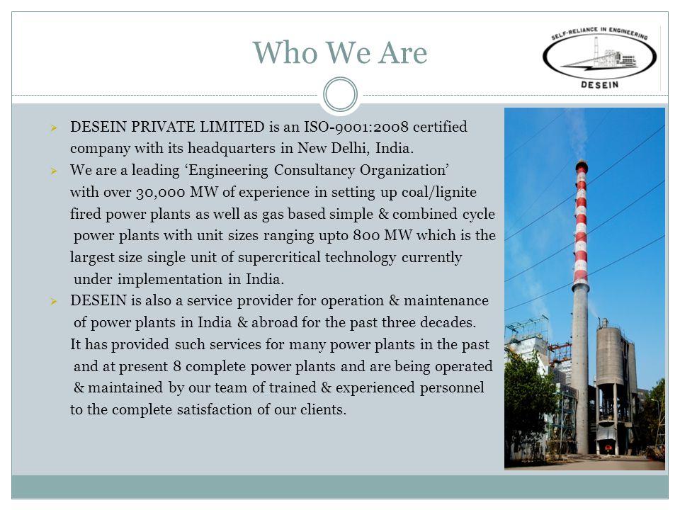 Owner's Engineer (Unit Sizes >200 MW) Coal / Lignite Based Power StationCapacity No.