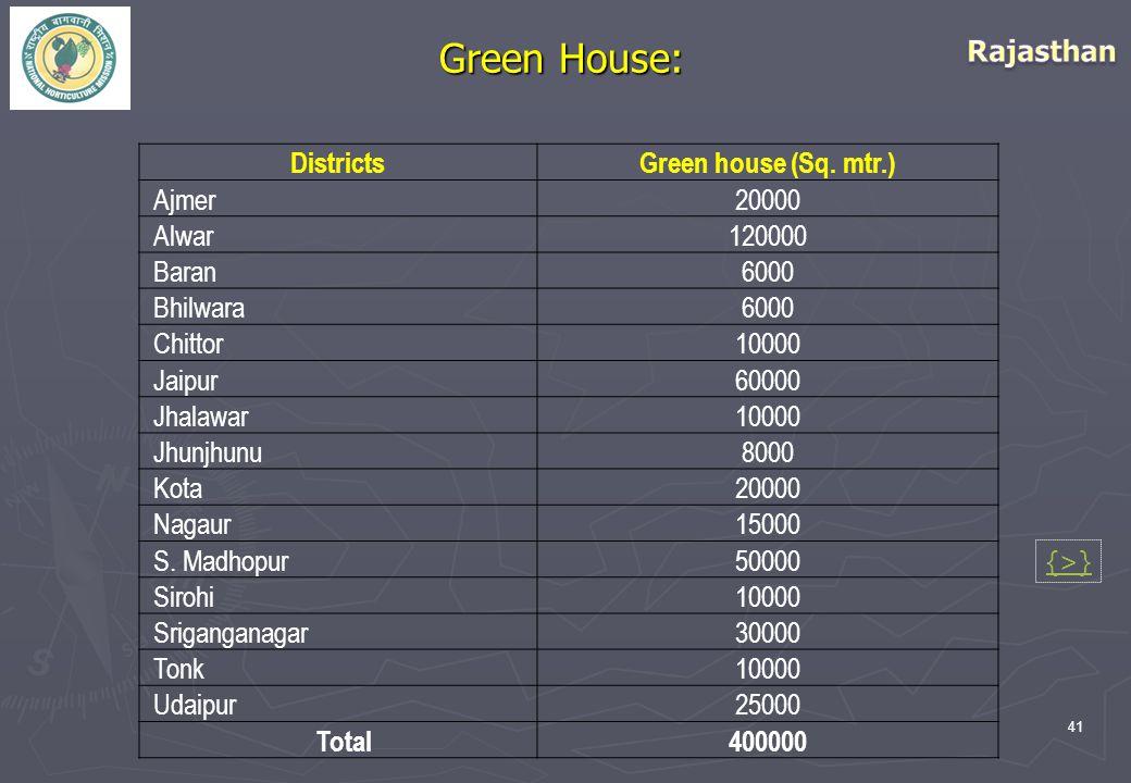41 Green House: DistrictsGreen house (Sq.