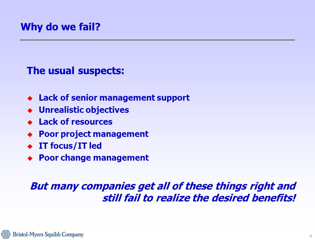 6 Why do we fail.
