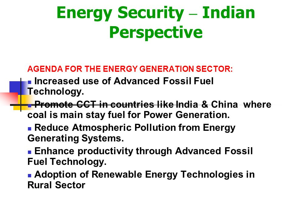 Tera-watt Challenge for synergy in Energy & Environment A terawatt Challenge of 2010 for India To give over one billion people in India the minimum El