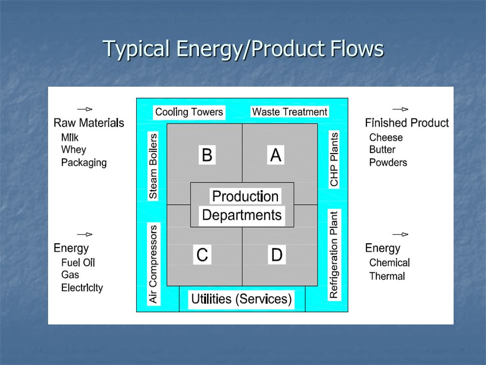 Typical Energy/Product Flows