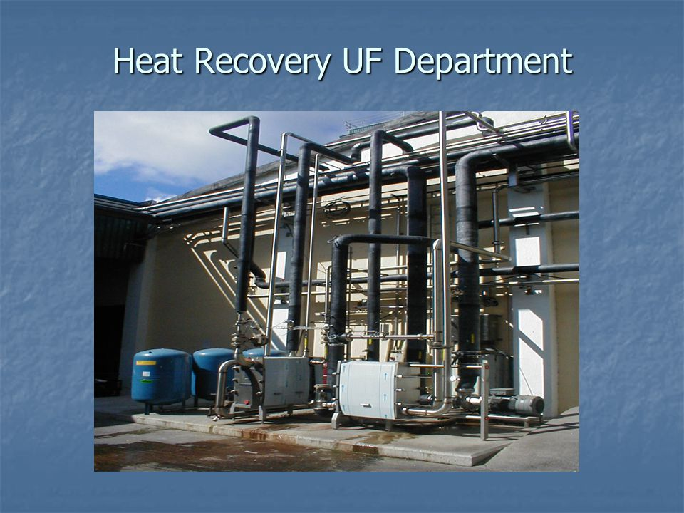 Heat Recovery UF Department