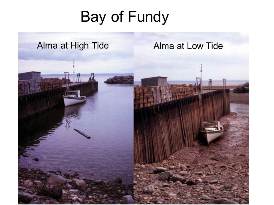 Alma at High Tide Alma at Low Tide Bay of Fundy