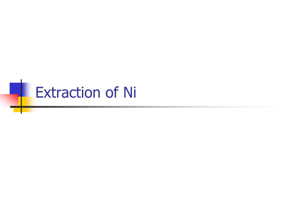 Extraction of Ni