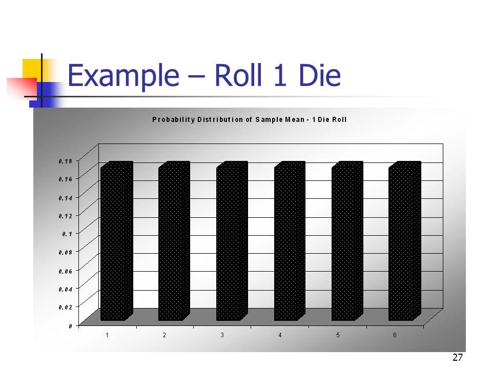 27 Example – Roll 1 Die
