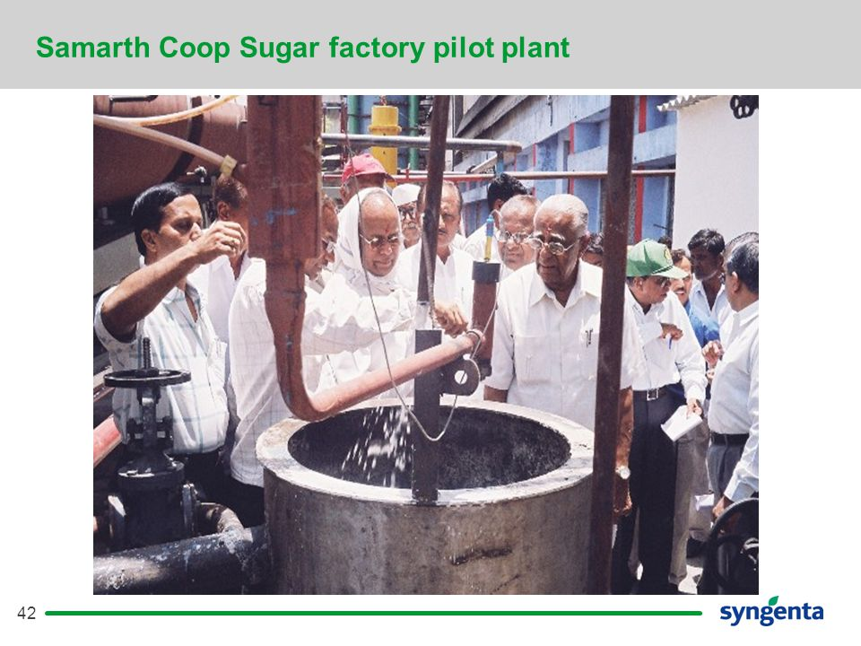 42 Samarth Coop Sugar factory pilot plant