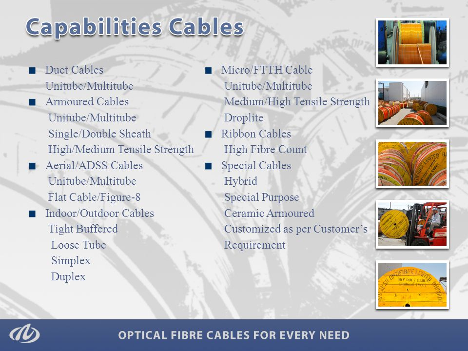 Ducts Micro Ducts- 7 way/ 4 way/ 2 way 40/33 mm Duct Aerial Accessories Hanger Hooks Pole Strips Jumpers Pigtails Patch cords Other Devices Termination box FDMS/ODF/FMS Tool Box Optical cards Patch panels/Racks