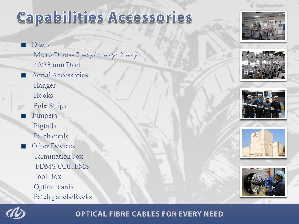 Strategic backward integration- In house Fibre and FRP of Optical Fibre Cables.