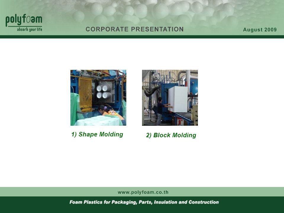 1) Shape Molding 2) Block Molding