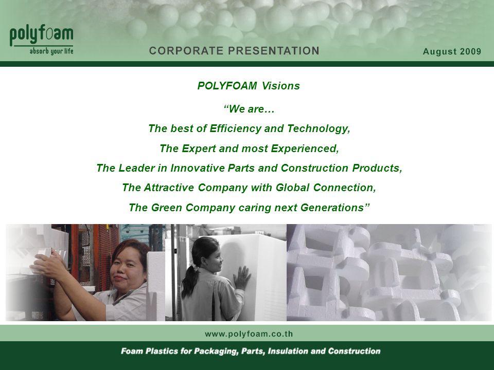 Milestones 1964 : Established the first Polyfoam Industries Co., Ltd..