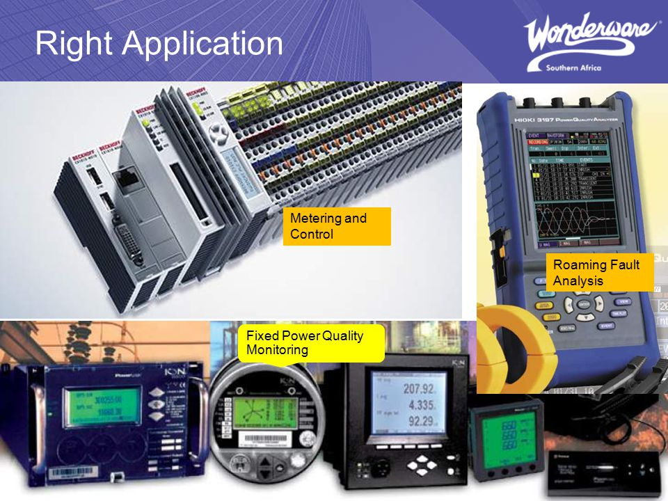 Right Application Fixed Power Quality Monitoring Roaming Fault Analysis Metering and Control