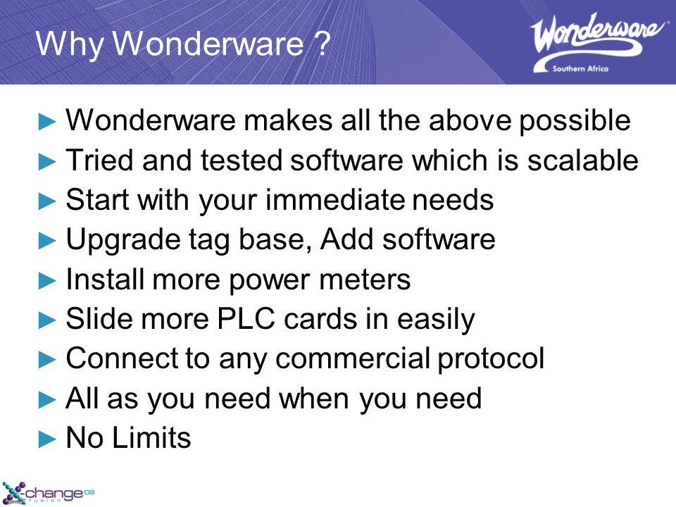 Why Wonderware .