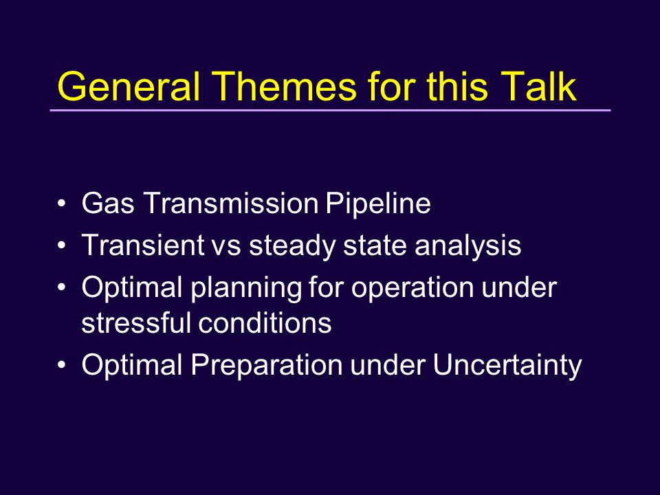Taxonomies Liquid Pipelines Natural Gas Pipelines Gathering systems Cross-country Transmission systems Distribution systems