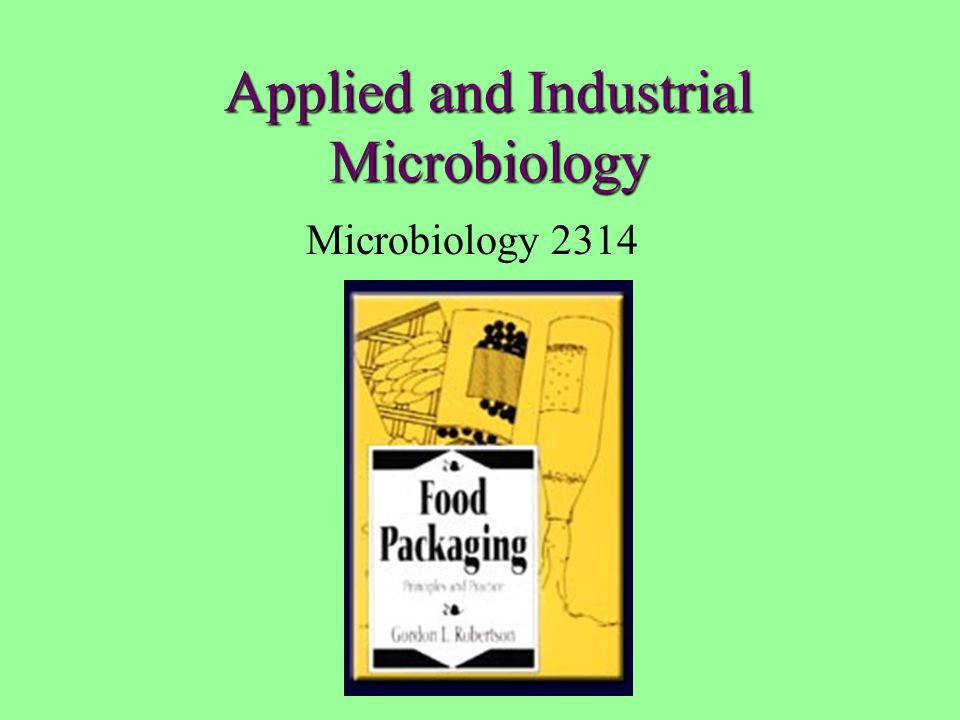 Applied and Industrial Microbiology Microbiology 2314