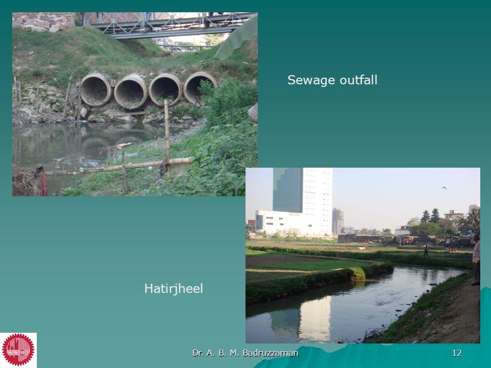Hatirjheel Sewage outfall Dr. A. B. M. Badruzzaman 12