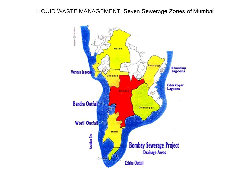 LIQUID WASTE MANAGEMENT -Seven Sewerage Zones of Mumbai