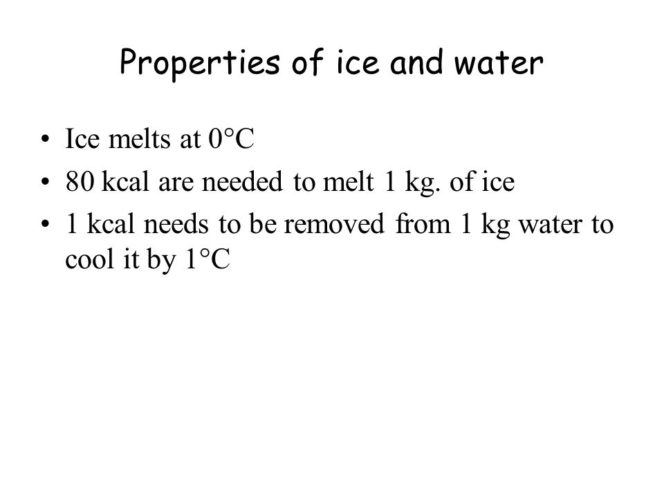 Properties of ice, cont.