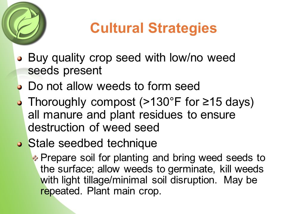 Use Cultivation Wisely USDA-ARS research showed organic methods can increase OM more than conventional no-till Teasdale et al., 2007.