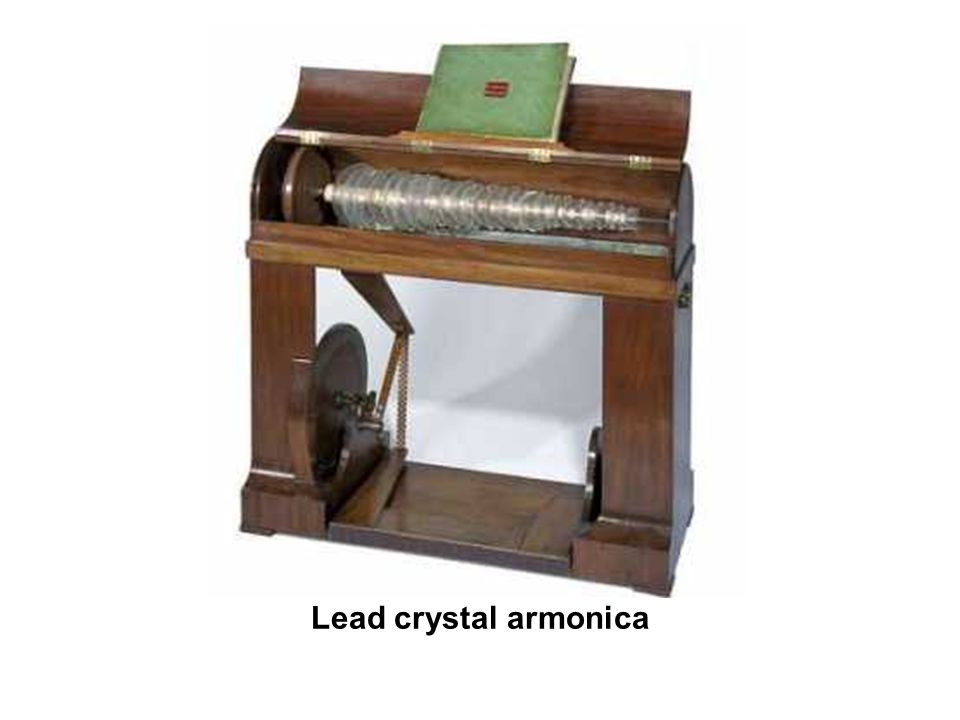 Lead crystal armonica