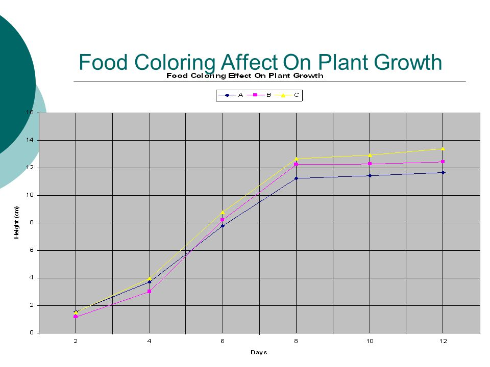 Food Coloring Affect On Plant Growth