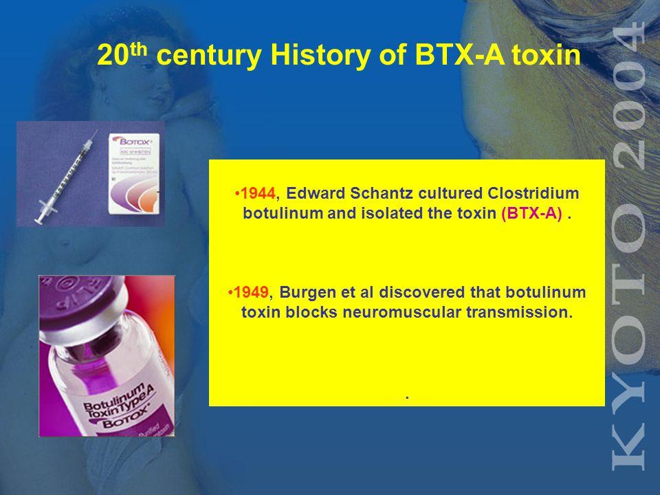 Scientific History of Botox 1822 German doctor Justinus Kerner published symptoms of sausage poison in 200 cases of gastroenteritis in Stuttgart in medical journal.