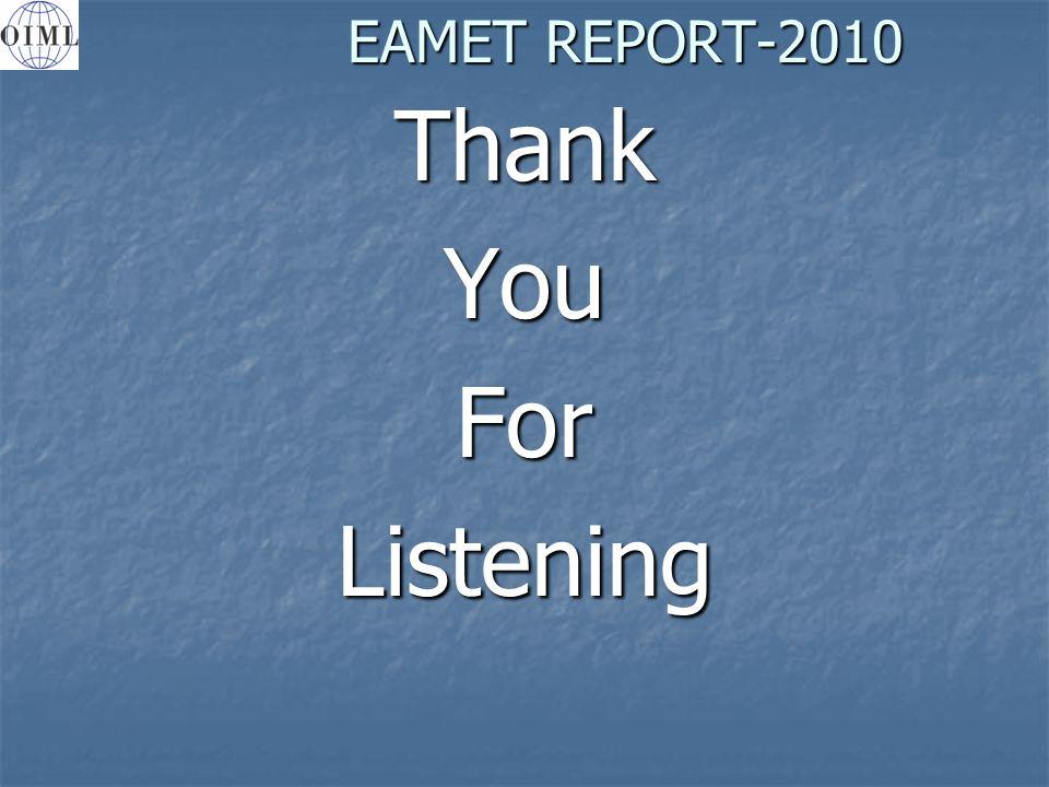 EAMET REPORT-2010 ThankYouForListening