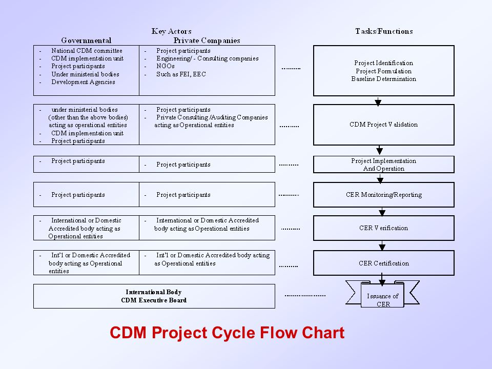 CDM Project Cycle Flow Chart