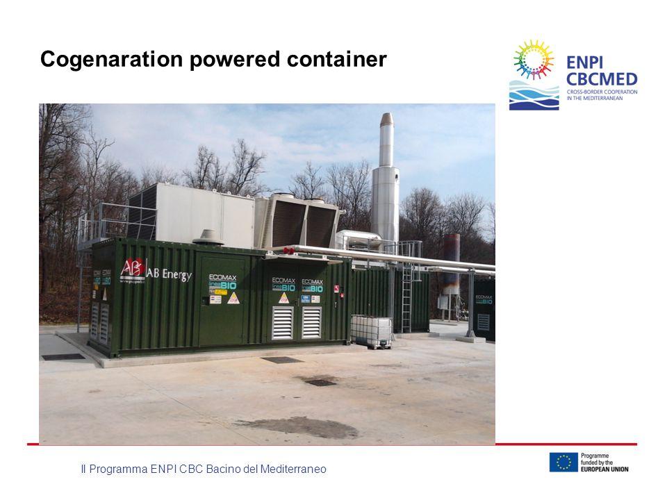 Il Programma ENPI CBC Bacino del Mediterraneo Cogenaration powered container