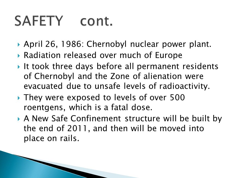  April 26, 1986: Chernobyl nuclear power plant.