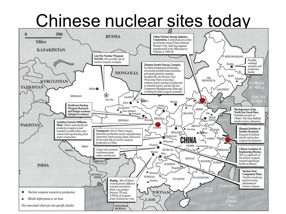 Chinese nuclear sites today