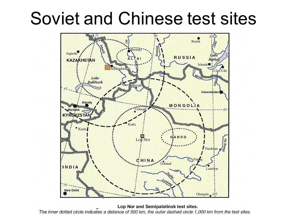 Soviet and Chinese test sites