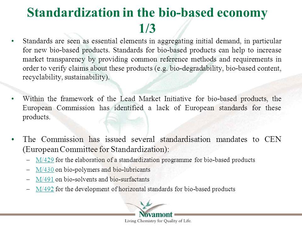 Standardization in the bio-based economy 2/3