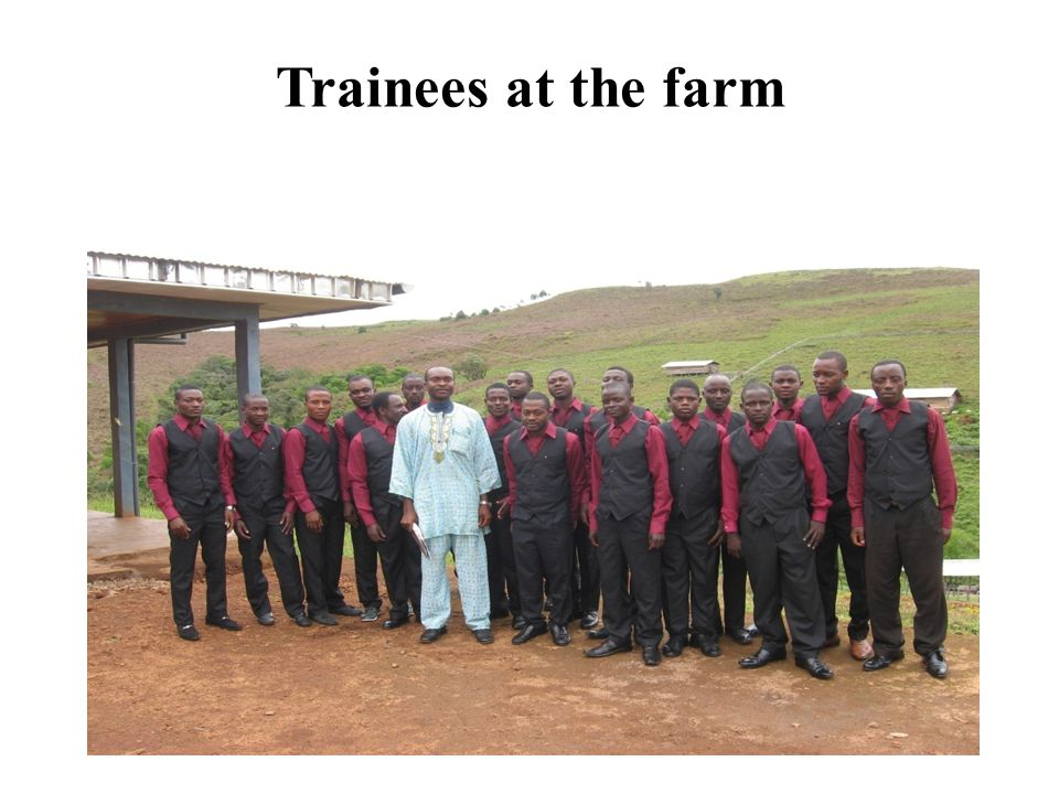 Trainees at the farm