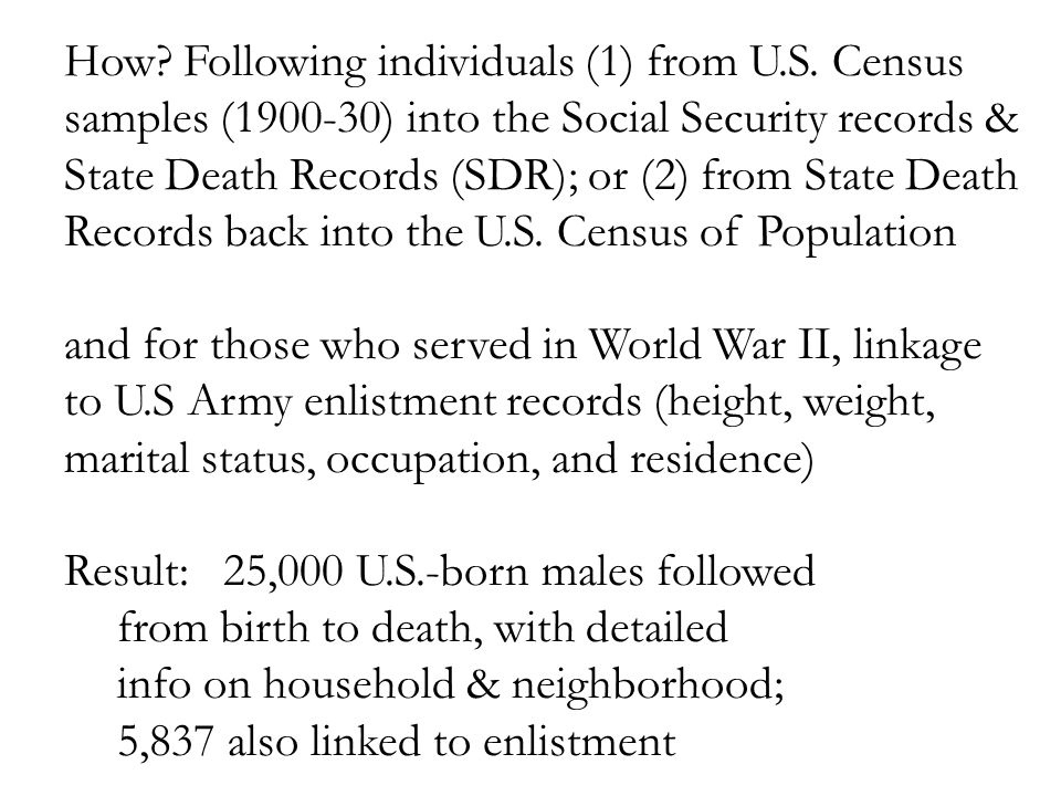 How. Following individuals (1) from U.S.