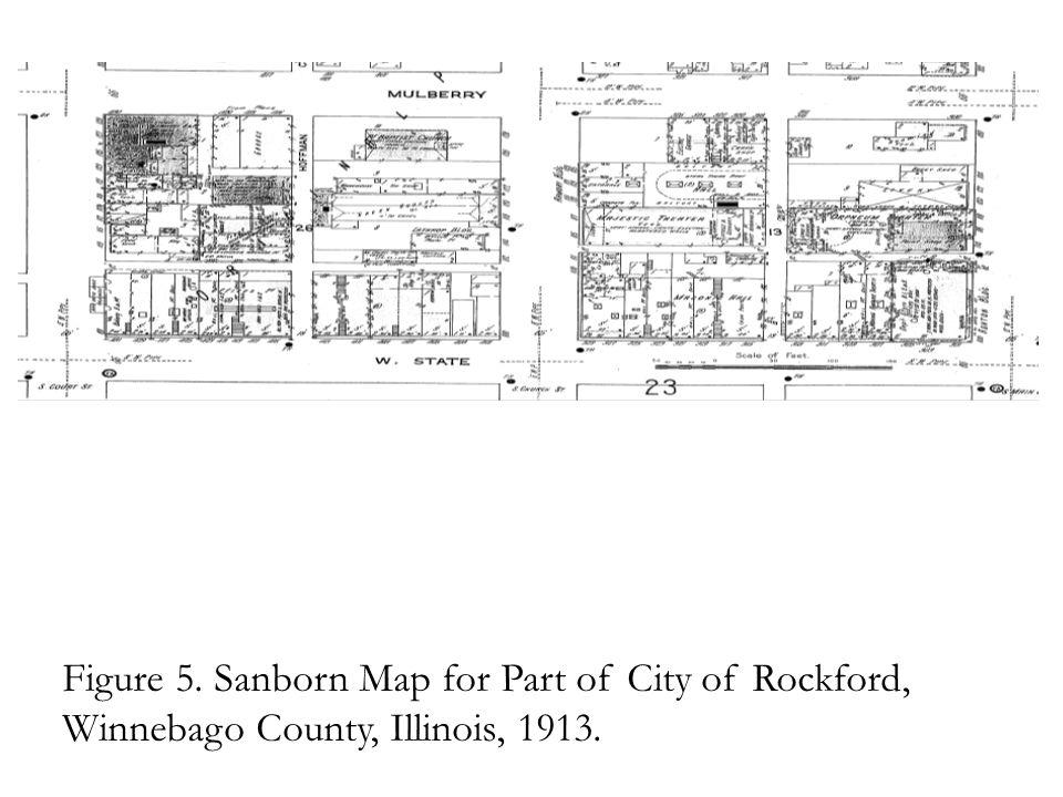 Figure 5. Sanborn Map for Part of City of Rockford, Winnebago County, Illinois, 1913.